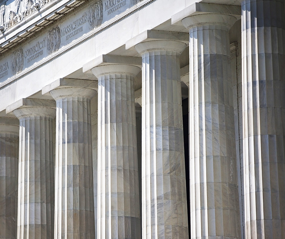 Row of stone columns, Washington DC, United States