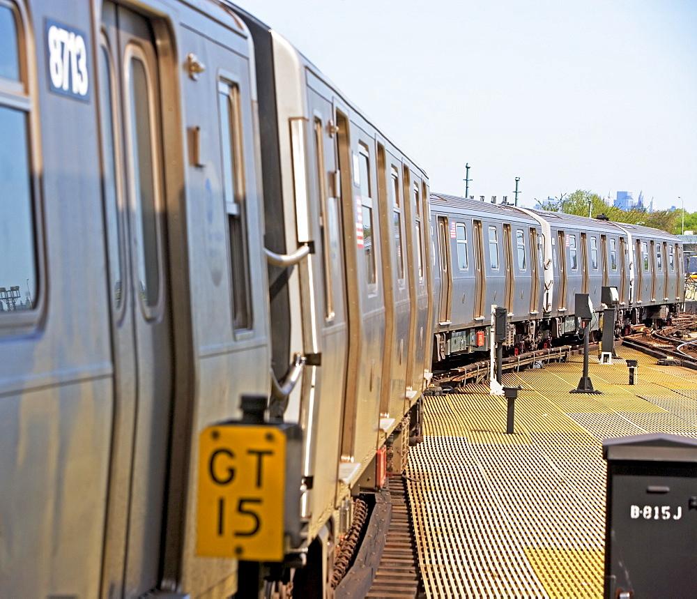 Subway train, New York City, New York, United States