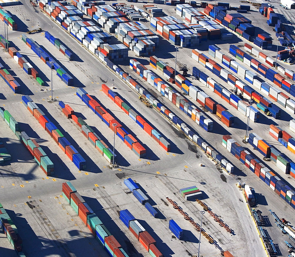 Shipping containers at commercial dock