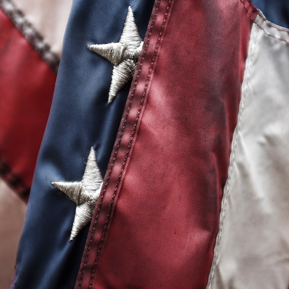 Close-up of American flag - 1178-25046