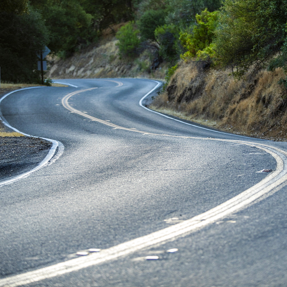 Winding road in San Luis Obispo, California, USA