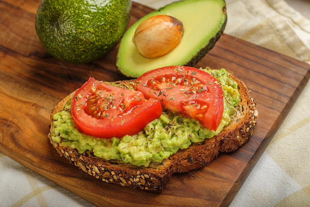 Avocado and tomato on toast