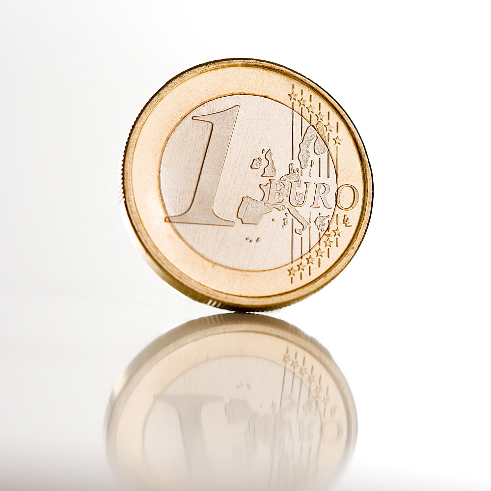 Sill life of Euro coin
