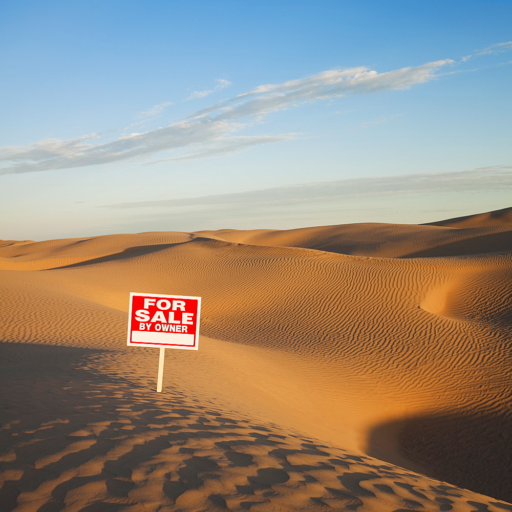For sale sign in desert