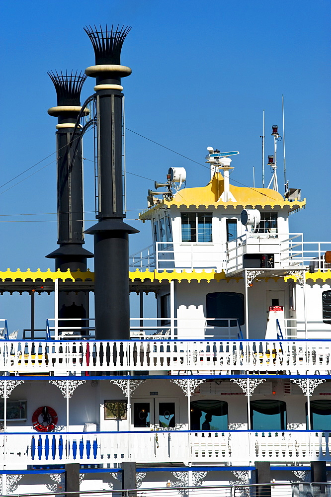 Close up of a riverboat