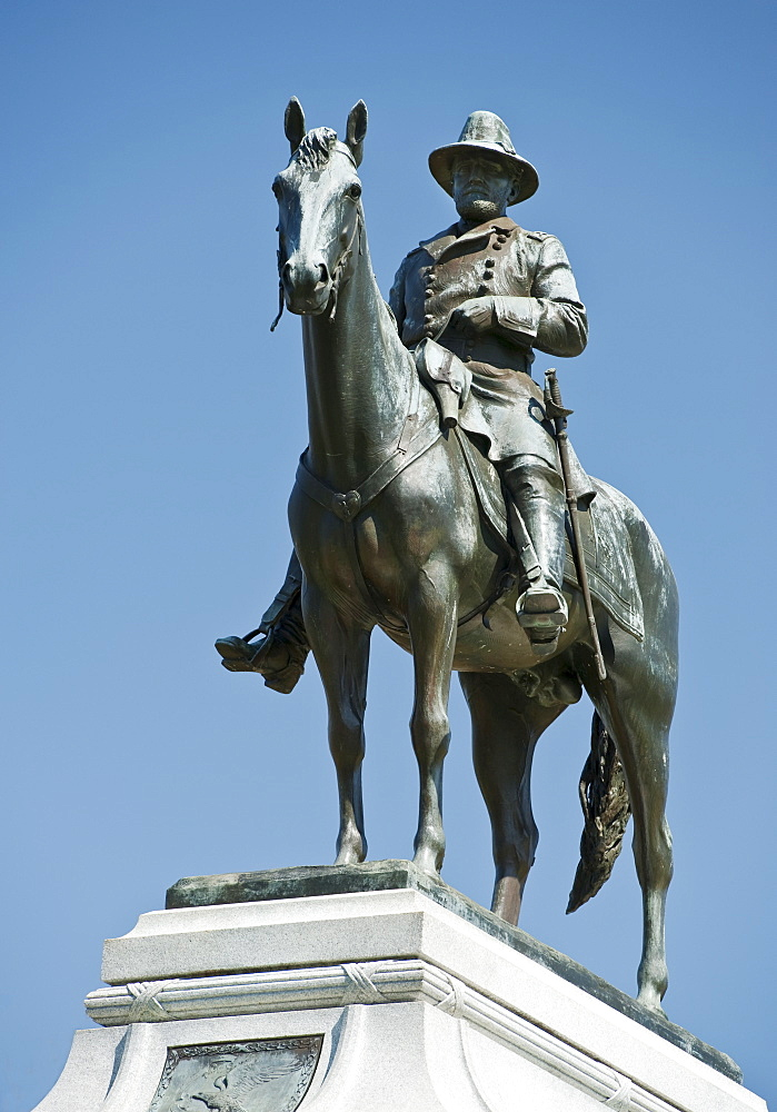 Statue of General Sherman at Vicksburg Military Park