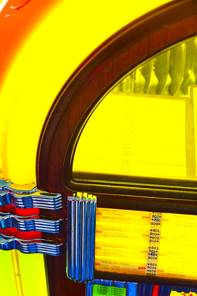 Partial view of a juke box