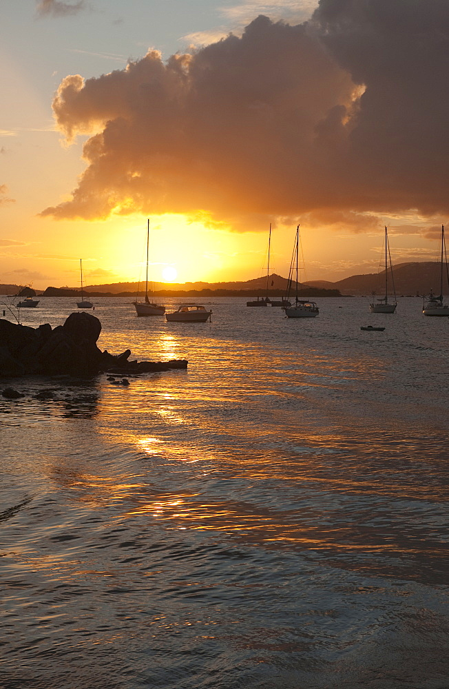 Harbor of St. John at sunset