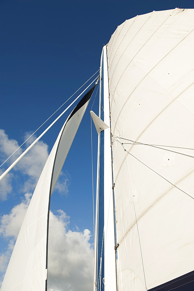 Sailboat and blue sky