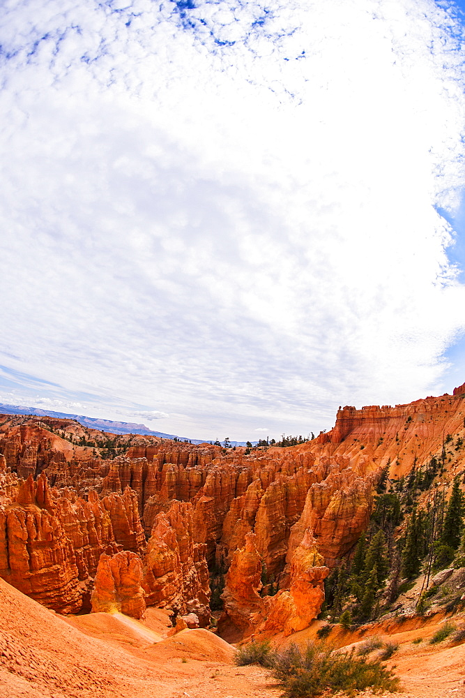 Landscape with cliffs, Bryce Canyon, Utah