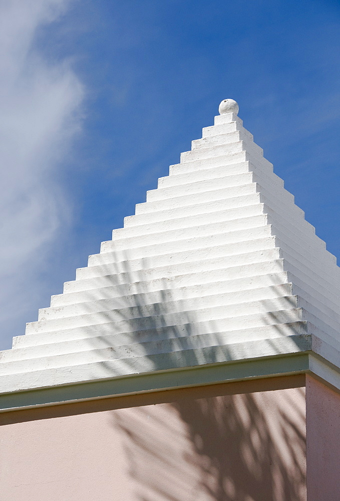 Typical roof in Bermuda