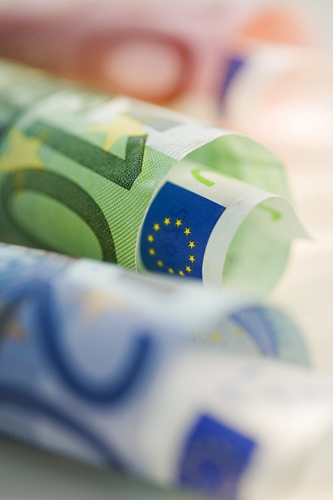 Close up of euros