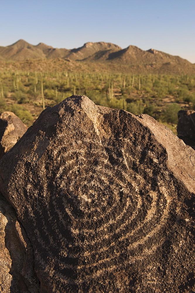 Petroglyph, Signal Hill, Arizona