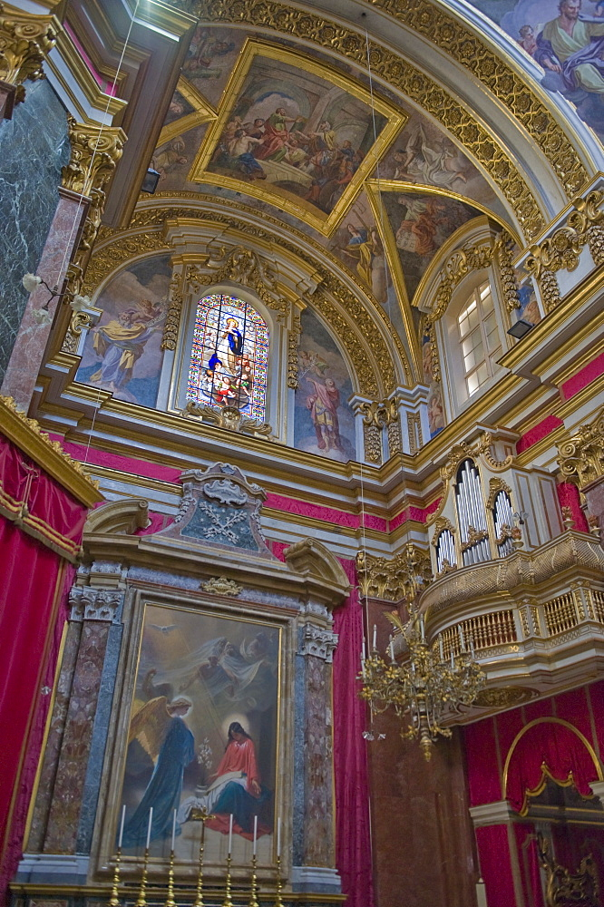 Interior of Mdina Cathedral, Malta