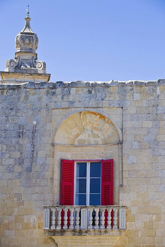 Window of old building, Mdina, Malta