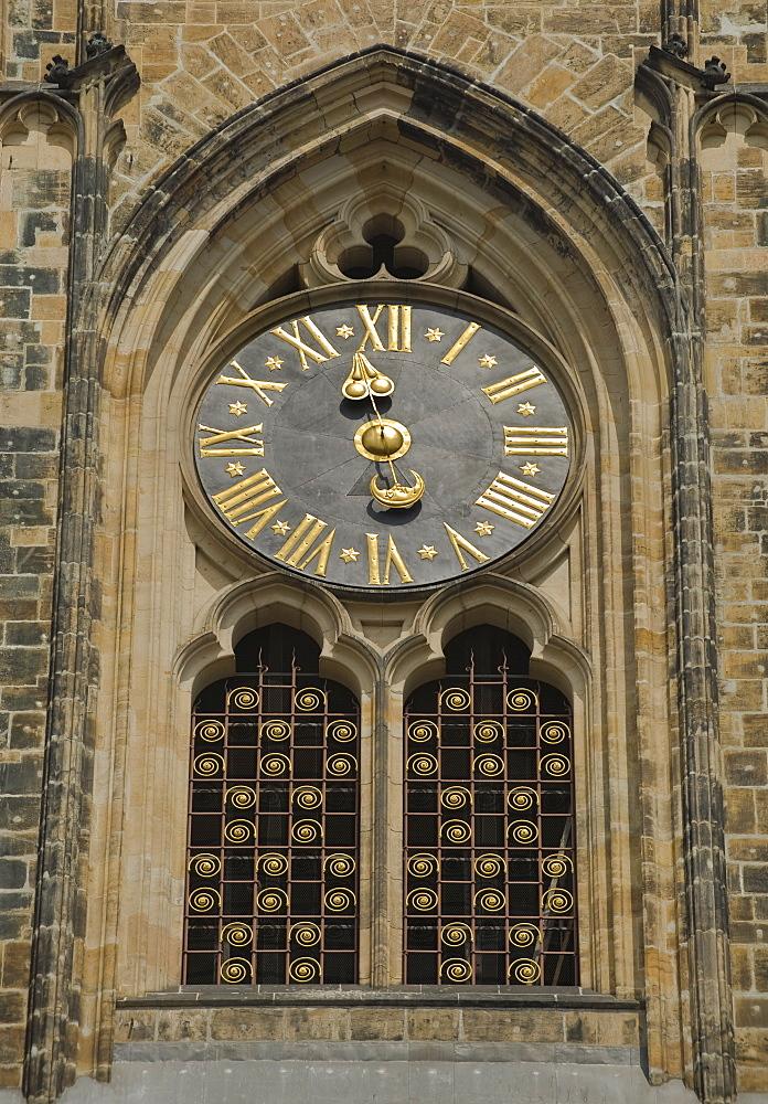 Clock of Saint Vitus Cathedral in Prague