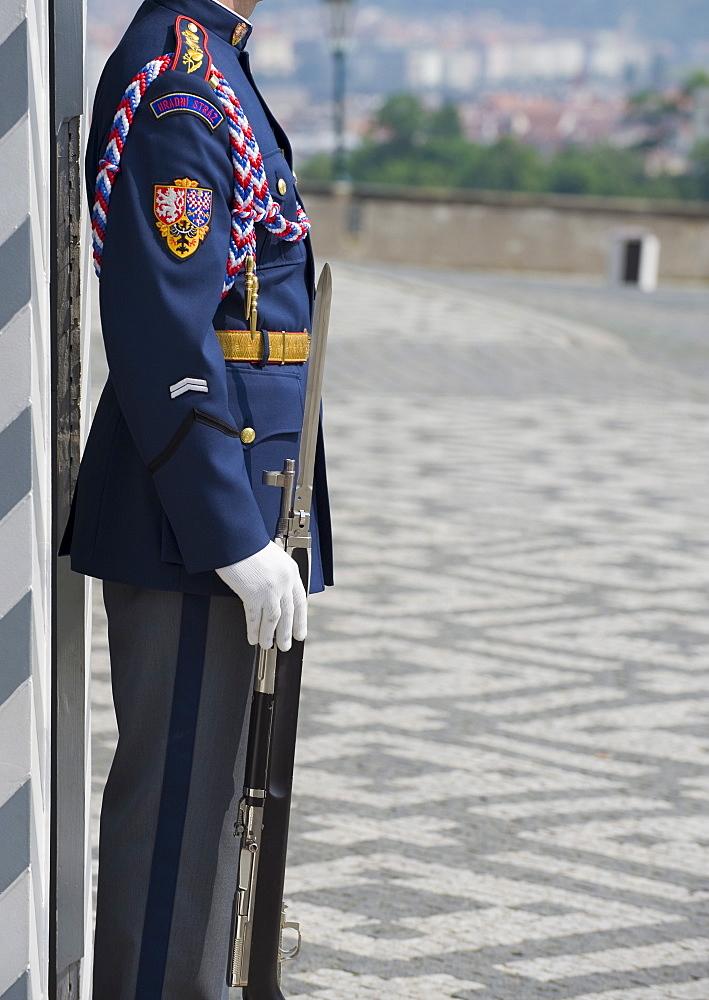 Castle guard on duty