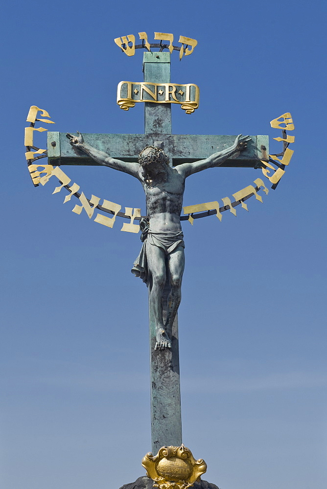 Low angle view of crucifix