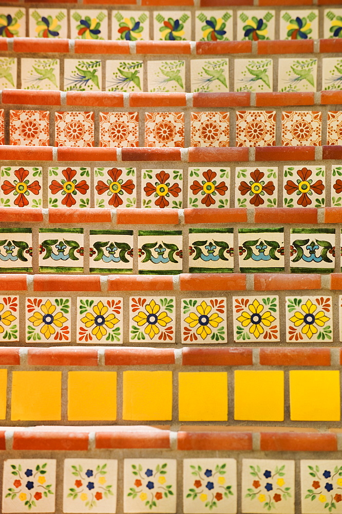 Close up of decorative tile