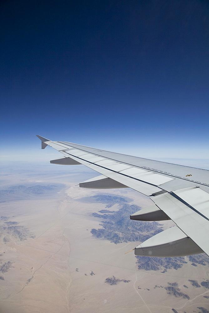 Aeroplane wing in flight