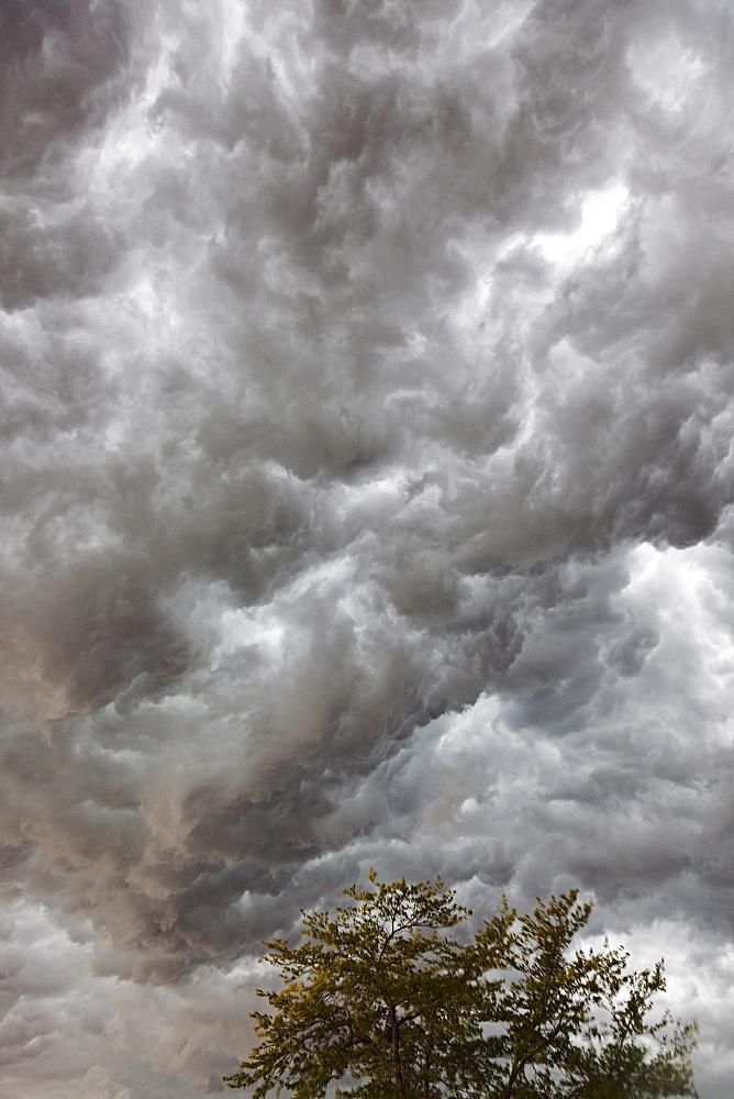 Grey storm clouds, USA, Illinois