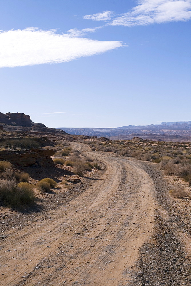 Dirt road in Arizona desert