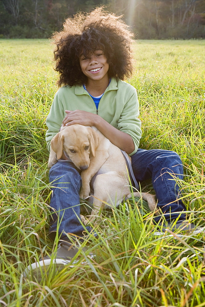 Child and dog - 1178-11914