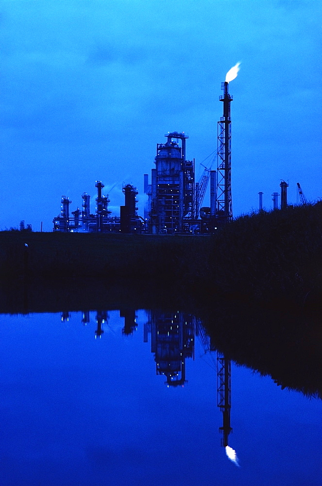 Oil refinery in Baytown, Texas