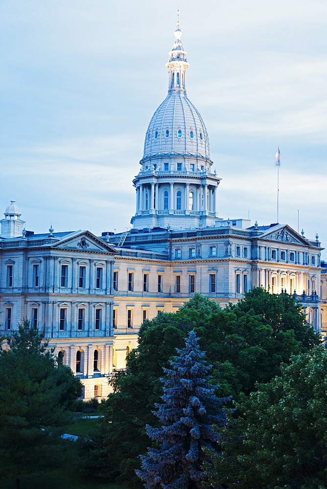 State Capitol Building in Lansing, Michigan, USA