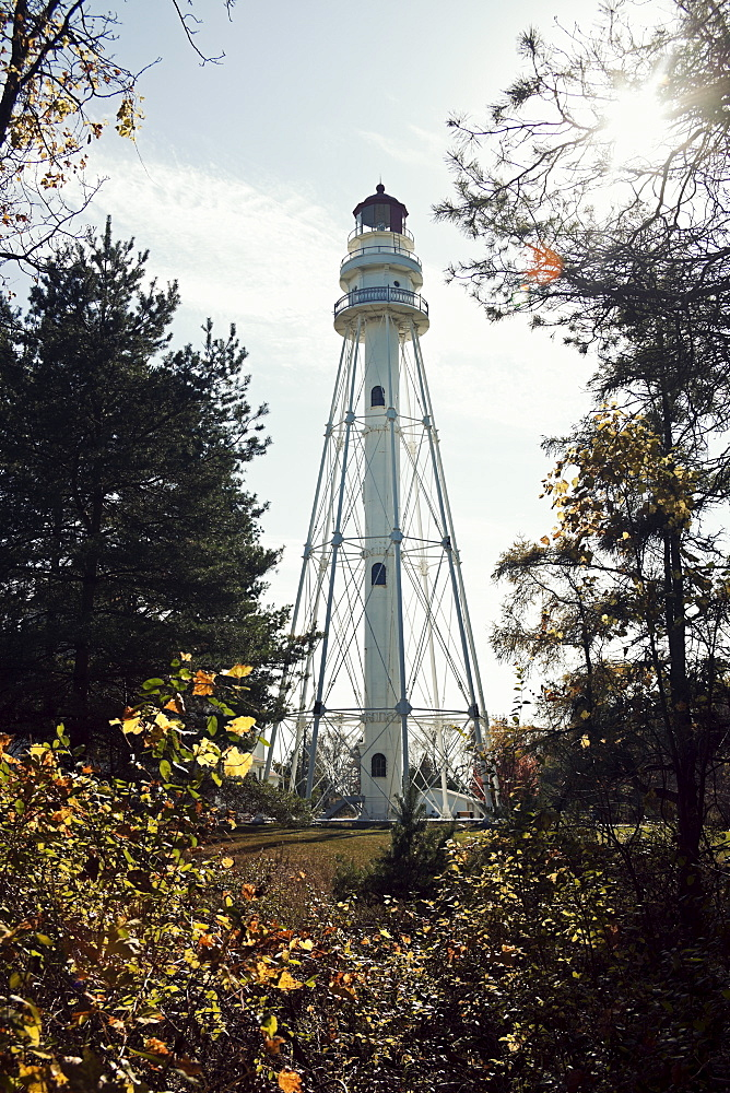 USA, Wisconsin, Rawley Point Lighthouse