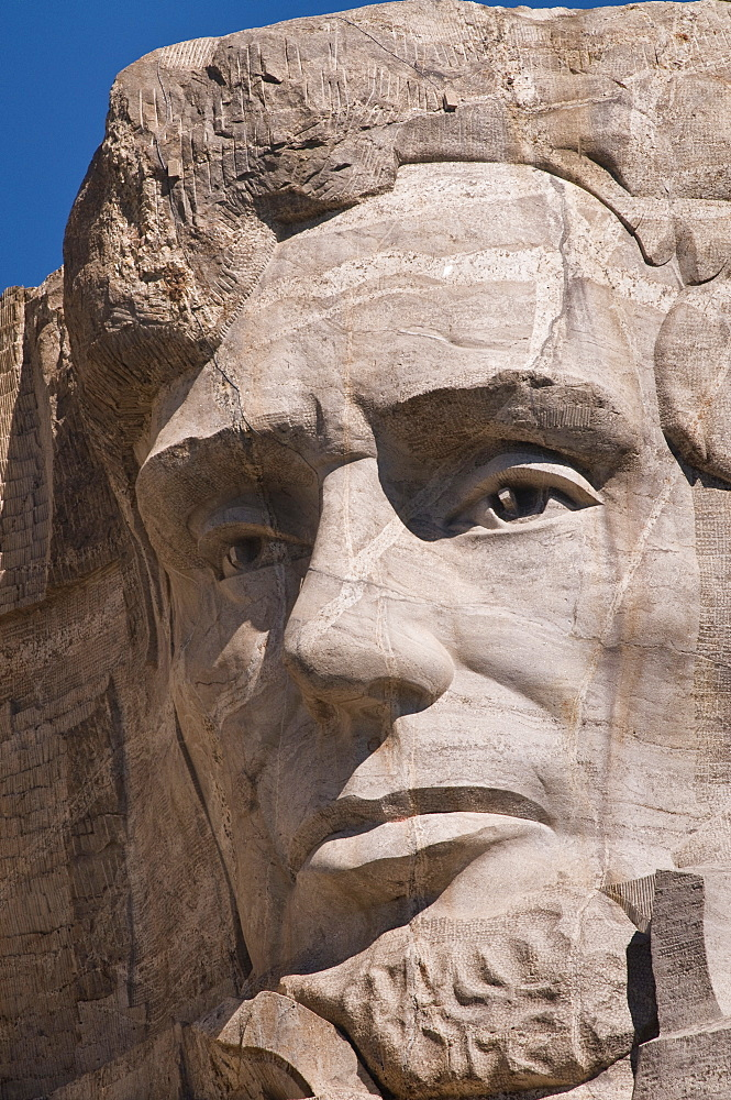 USA, South Dakota, Abraham Lincoln on Mt Rushmore National Monument