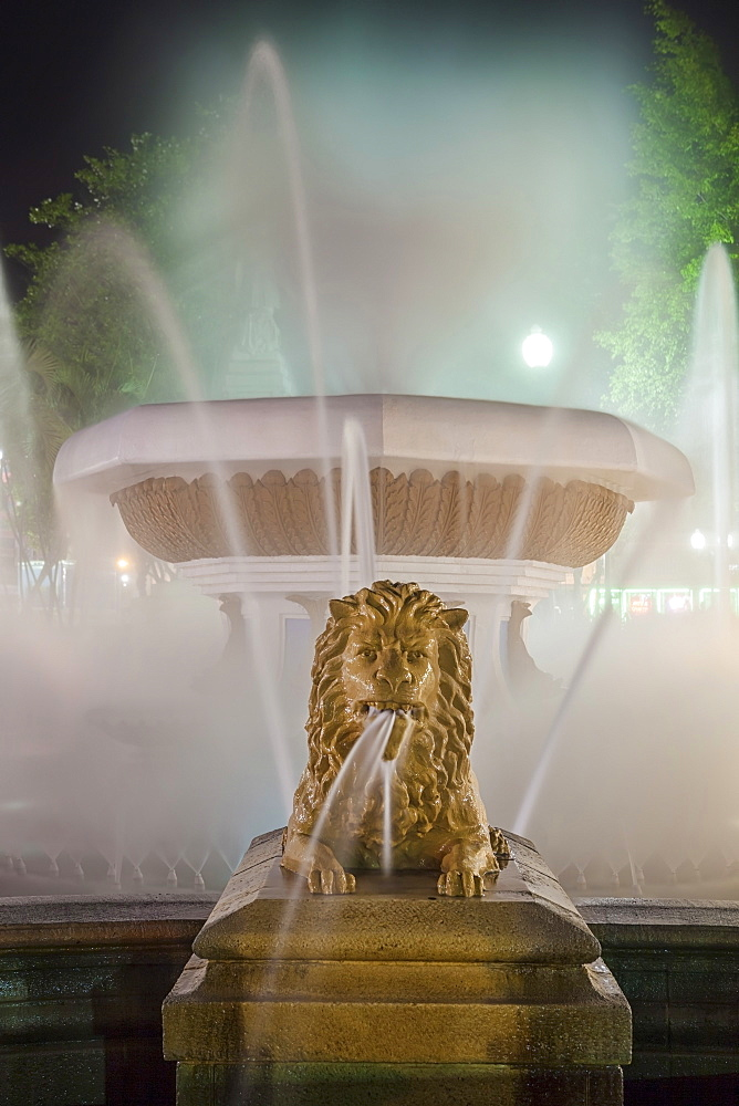 The fountain of the Lions, Ponce, Puerto Rico,