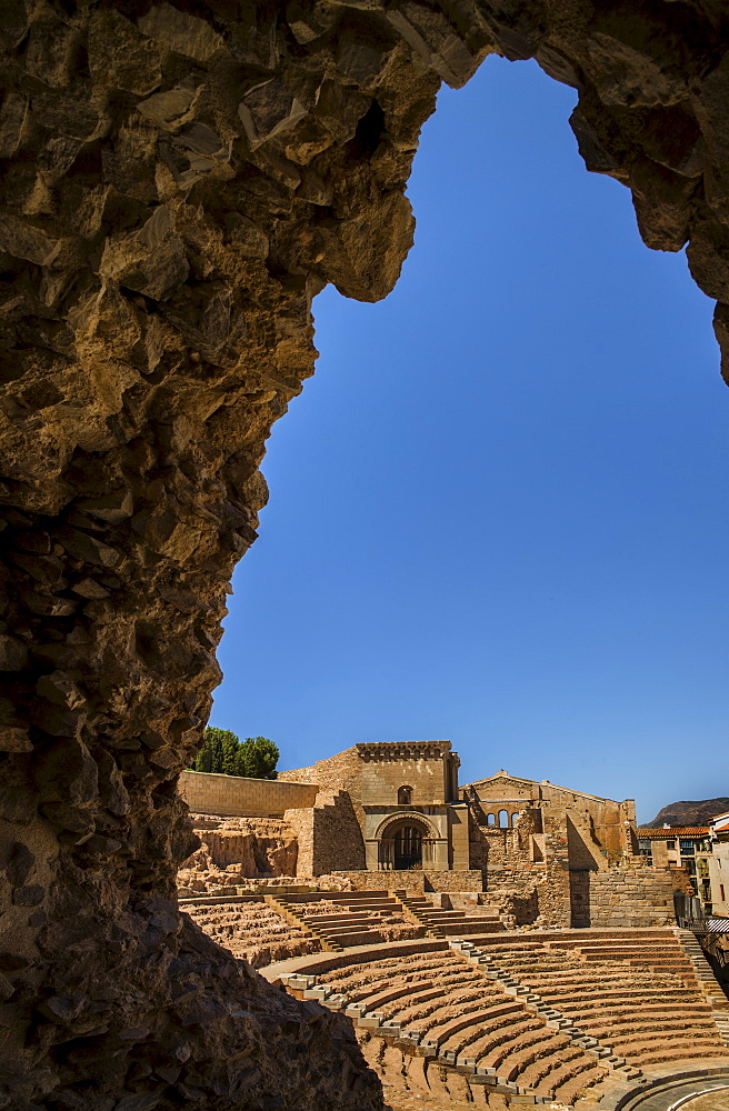 Ancient Roman amphitheater, Cartegena, Spain