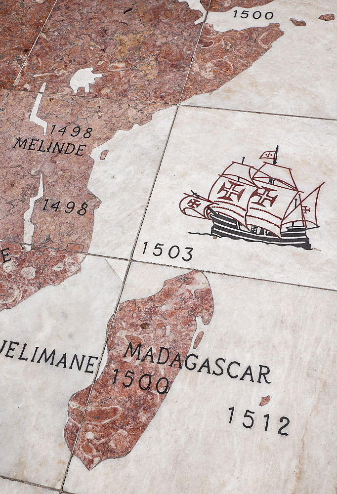 Close up of map, Lisbon, Portugal