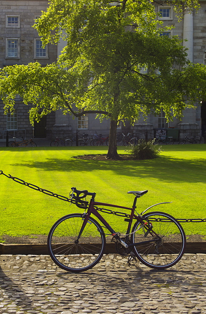 Bicycle in front of Trinity College