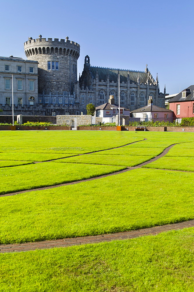 Lawn in front of Dublin Castle
