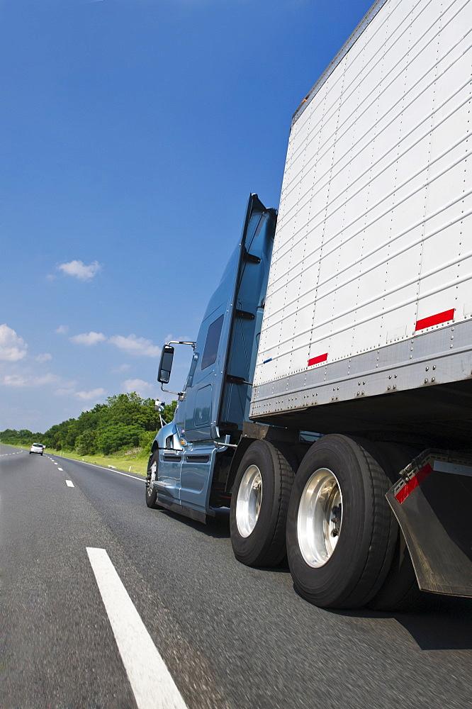 Transport truck on highway