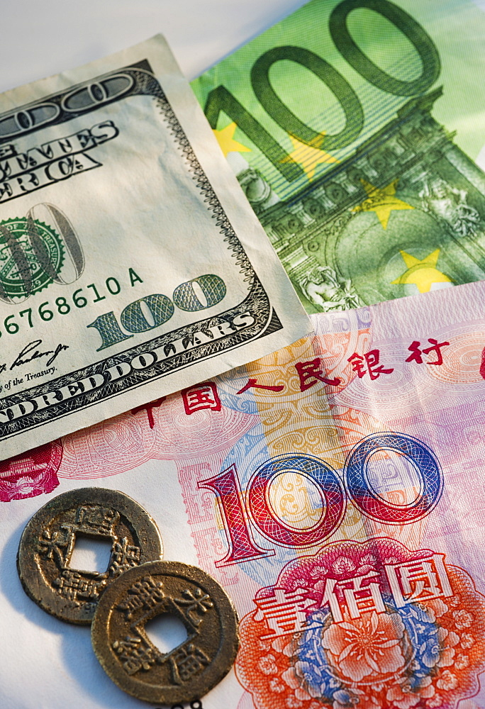 Chinese American and European money