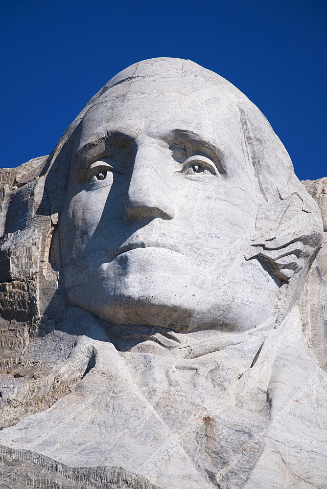 Head of Washington on Mount Rushmore