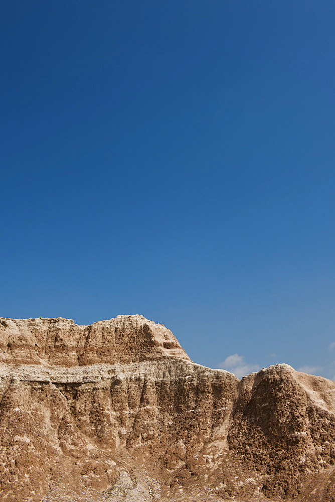 USA, South Dakota, Mountains in Badlands National Park