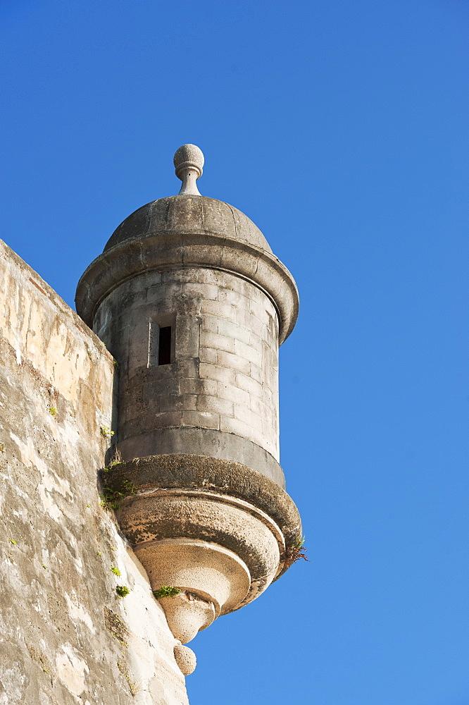 Puerto Rico, Old San Juan, turret of El Morro Fortress