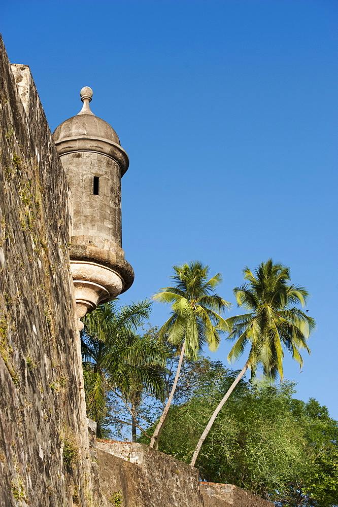 Puerto Rico, Old San Juan, section of El Morro Fortress