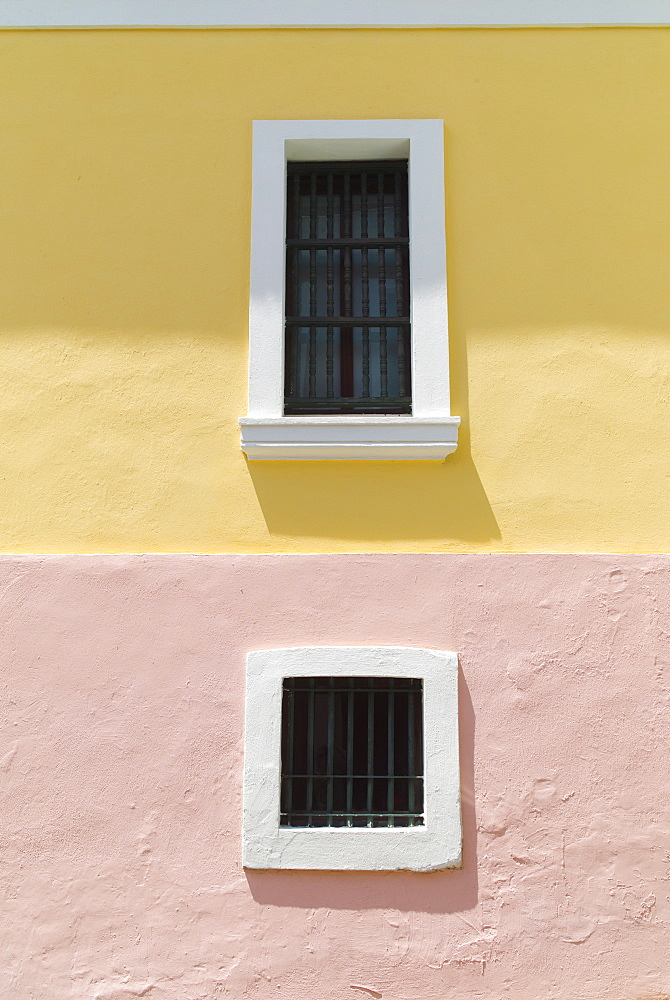 Puerto Rico, Old San Juan, Historic house exterior