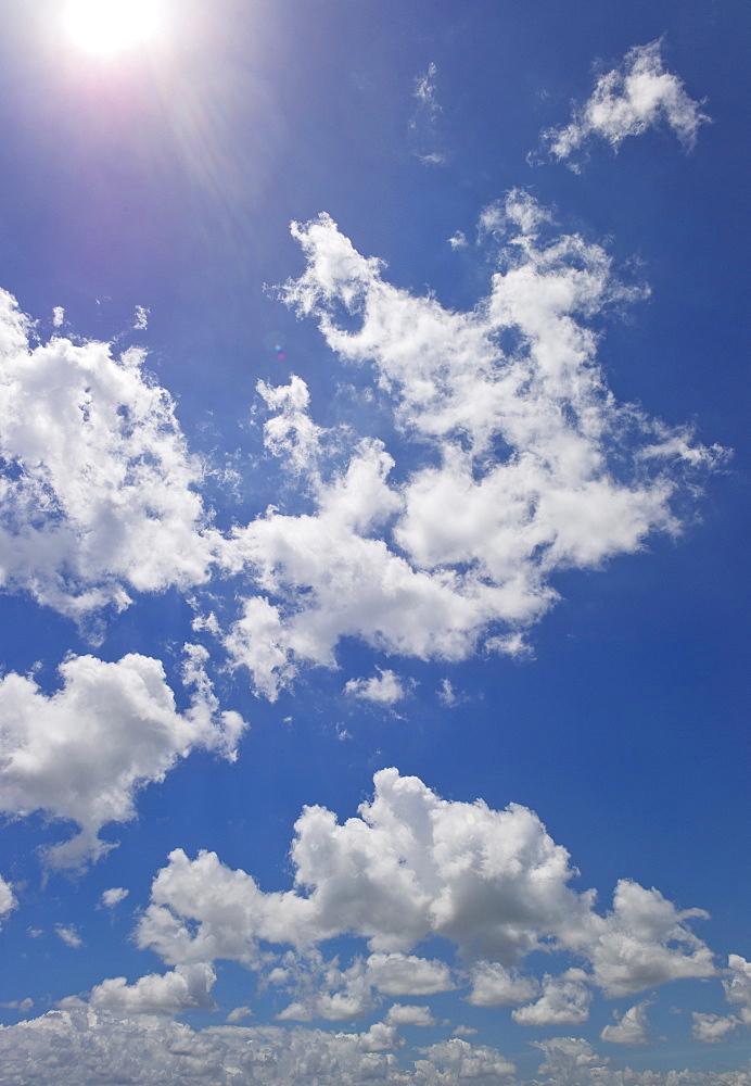 Magnificent cloudscape against blue sky