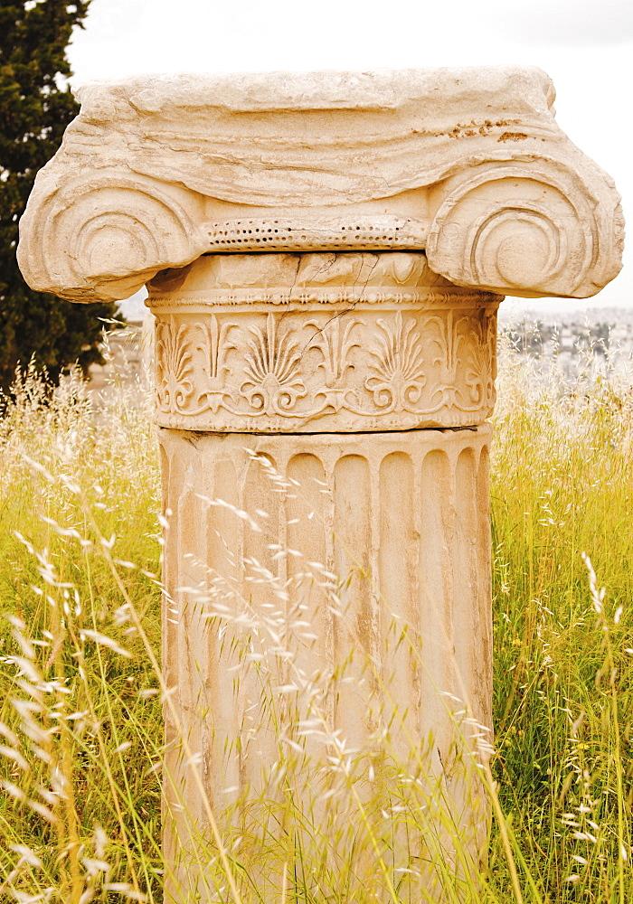 Greece, Athens, Acropolis, Ionic column