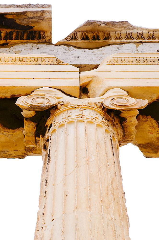 Greece, Athens, Acropolis, Ionic column of Erechtheum