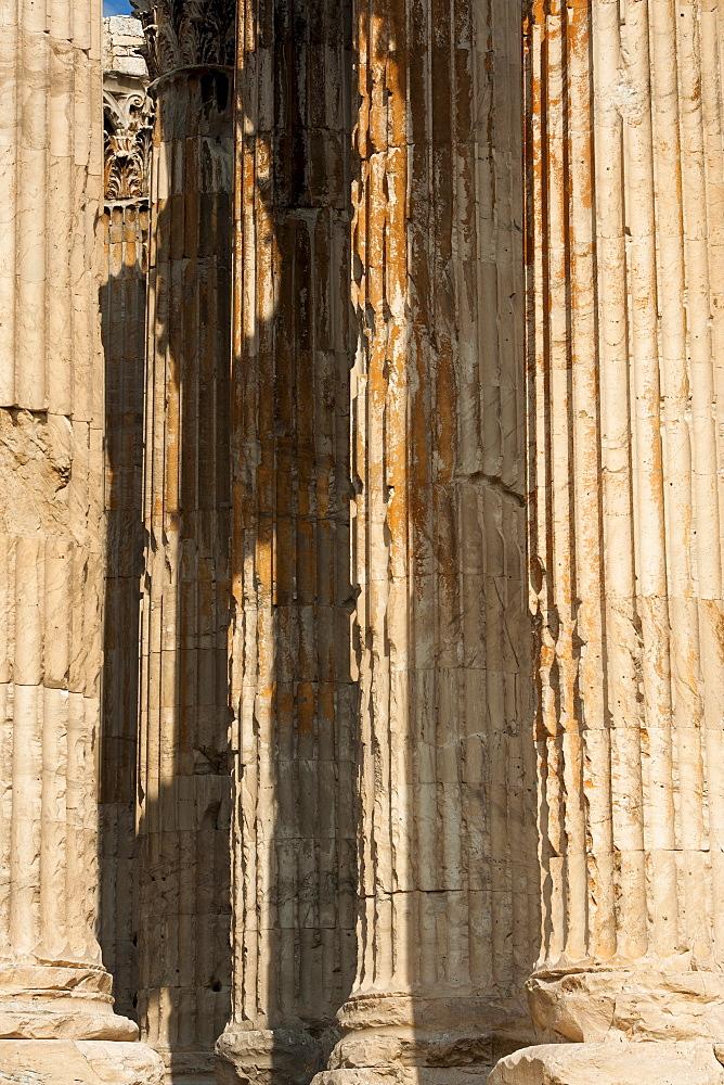 Greece, Athens, Corinthian columns of Temple of Olympian Zeus