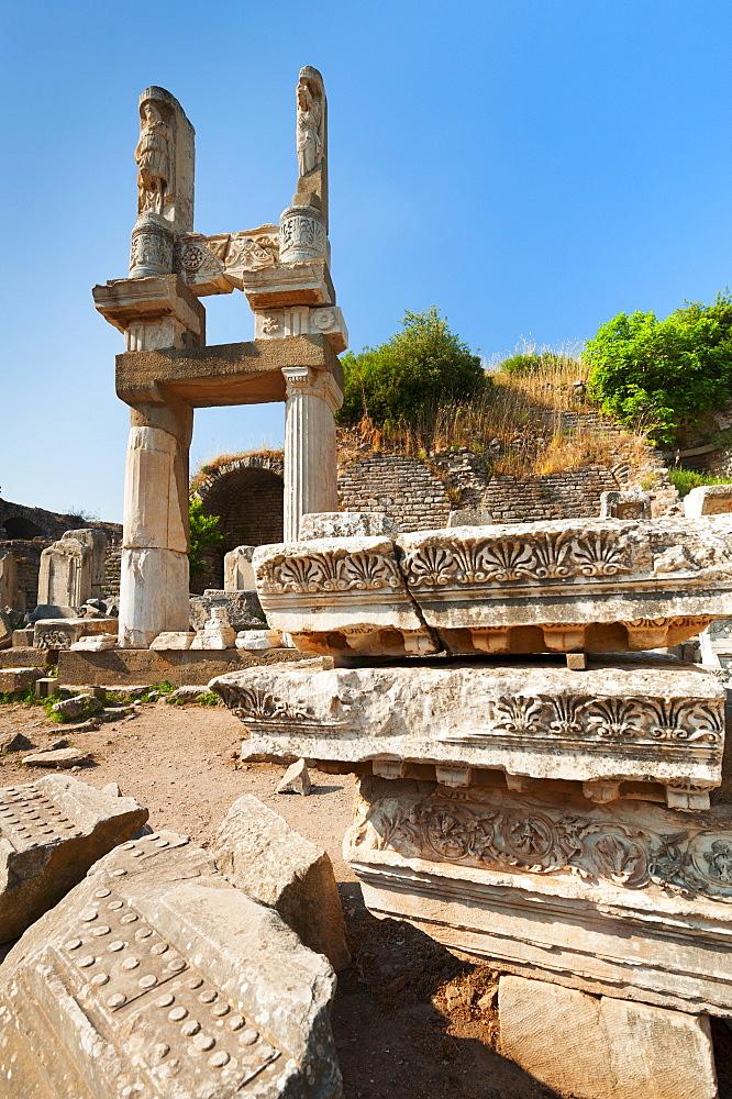Turkey, Ephesus, Temple of Domitian