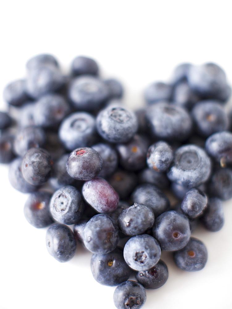 Blueberry heart, studio shot