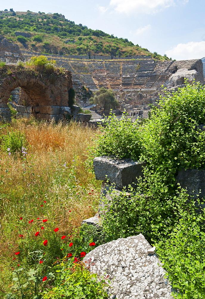 Turkey, Ephesus, Roman amphitheatre